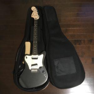 ARIAギグバッグABC-300EG ギターを収納した様子
